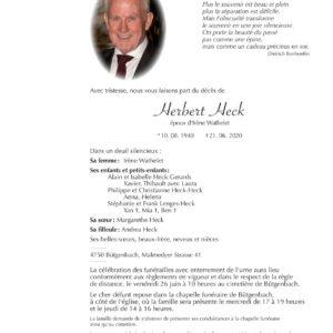Todesanzeige Herbert Heck